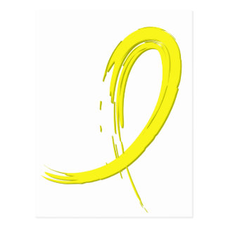 Sarcoma's Yellow Ribbon A4 Postcard
