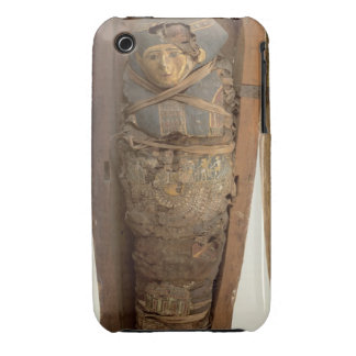 Sarcophagus and mummified body of Psametik I (664- iPhone 3 Covers