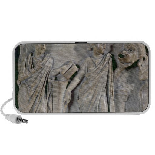 Sarcophagus of the Muses, detail of Clio & Notebook Speakers