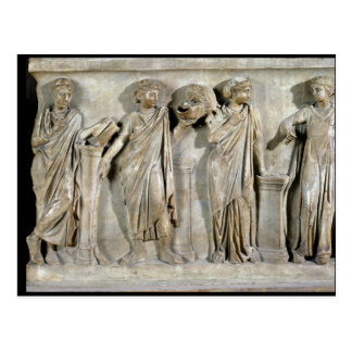Sarcophagus of the Muses Postcard