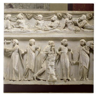 Sarcophagus of the Muses, Roman (marble) Tile