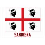 Sardegna flag with name postcard