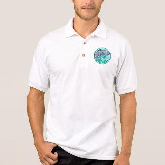 Sardine Fish Jumping Circle Retro Shirts