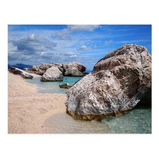 Sardinia beach postcard