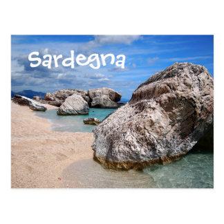 Sardinia beach postcard text postcard