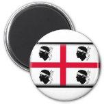 Sardinia Flag 6 Cm Round Magnet
