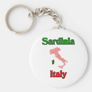Sardinia Italy Basic Round Button Key Ring