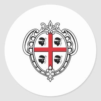 Sardinia (Italy) Coat of Arms Classic Round Sticker