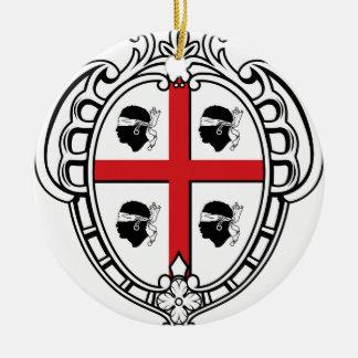 Sardinia (Italy) Coat of Arms Round Ceramic Decoration