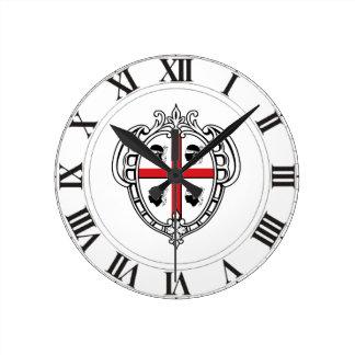 Sardinia (Italy) Coat of Arms Round Clock