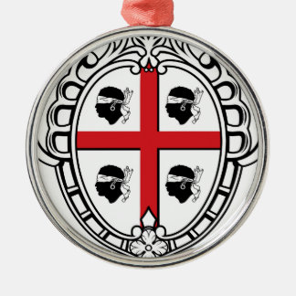 Sardinia (Italy) Coat of Arms Silver-Colored Round Decoration