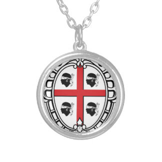 Sardinia (Italy) Coat of Arms Silver Plated Necklace