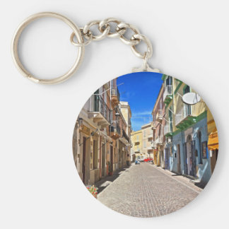 Sardinia - main street in Carloforte Key Ring