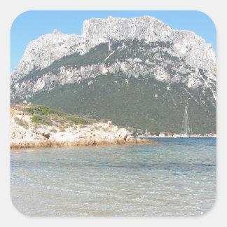 Sardinia seascape in summer square sticker