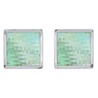 Sardinia Square Cufflinks Silver Finish Cufflinks