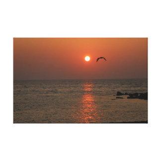Sardinia Sunset Stretched Canvas Print