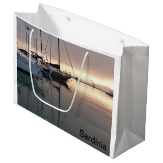 Sardinia sunset large gift bag