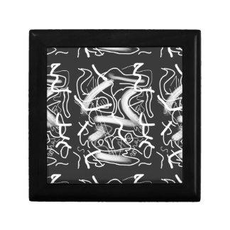 Sardonic Bold Energetic Scribble Pattern Keepsake Box