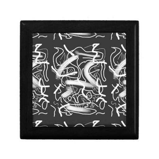 """""""Sardonic"""" Bold Energetic Scribble Pattern Keepsake Box"""