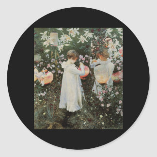 Sargent Carnation Lily Lily Rose Round Sticker