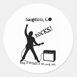 Sargents, CO Round Sticker