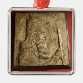 Sargon II-  Egyptian Museum.jpg Christmas Ornament