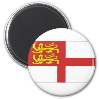 Sark Flag 6 Cm Round Magnet