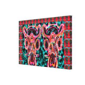 SARKARI Twins : High Spirited BULLS Stretched Canvas Prints