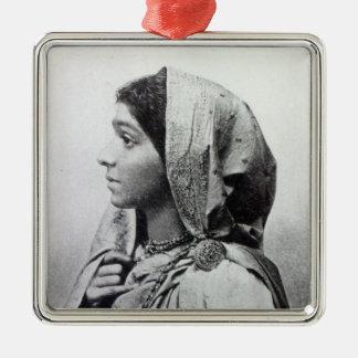Sarojini Naidu Silver-Colored Square Decoration