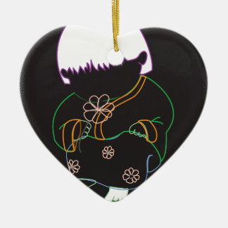 Sarong Girl -FlowerSwirl- DblSide ornament