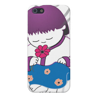 Sarong Girl Smell The Roses iPhone4 case Cases For iPhone 5
