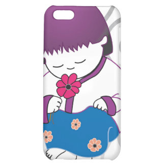 Sarong Girl Smell The Roses iPhone4 case Cover For iPhone 5C