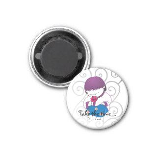Sarong Girl -TakeTheTime- magnet