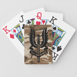 SAS camo Playing Cards