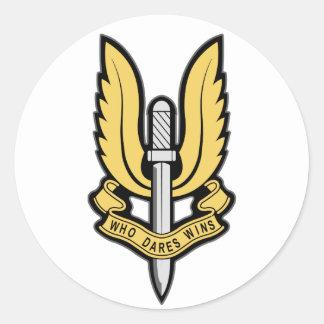 SAS Insignia Round Sticker