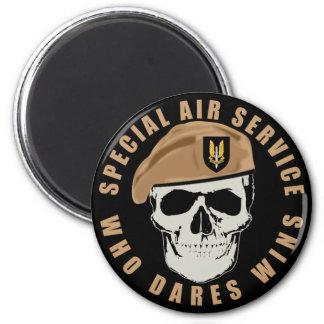 SAS Skull 6 Cm Round Magnet