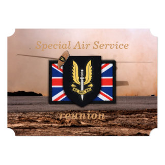 sas special air service veterans vets 5x7 paper invitation card
