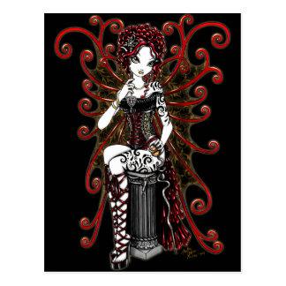 """Sasha"" Gothic Couture Valentine Fairy Postcard"