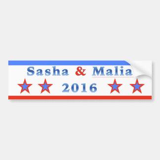 Sasha & Malia for President 2016! Bumper Sticker