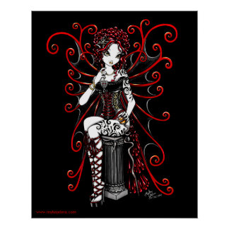 Sasha Red Couture Fairy Poster