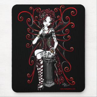Sasha Red Tattooed Corset Fairy Mouse Mat