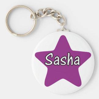 Sasha Star Basic Round Button Key Ring