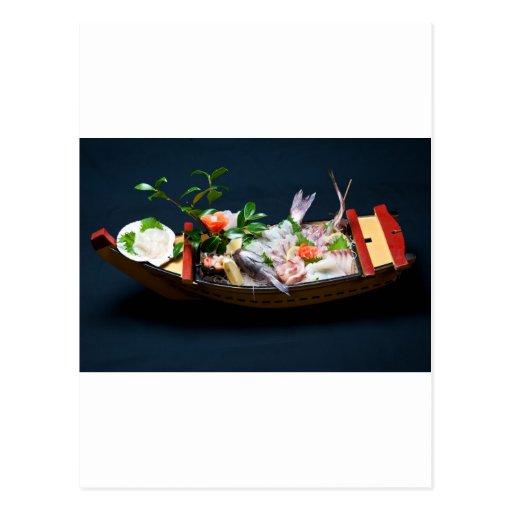 Sashimi Boat. Postcards