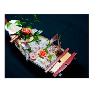Sashimi Boat. Postcard
