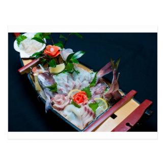 Sashimi in Japan Japanese Cuisine Postcard