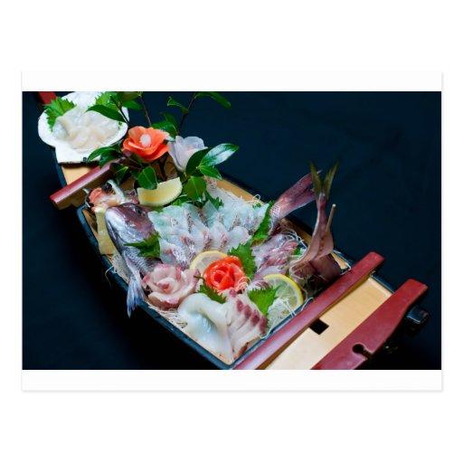 Sashimi in Japan, Japanese Cuisine Postcard