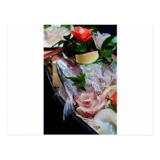 Sashimi in Japan, Japanese Cuisine Postcards