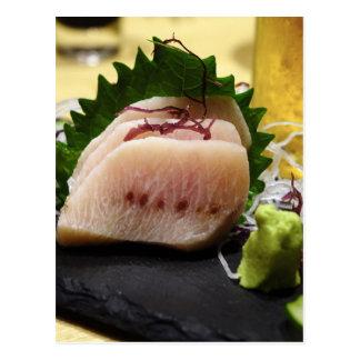 Sashimi Mekajiki Swordfish Wasabi Raw Fresh Postcard