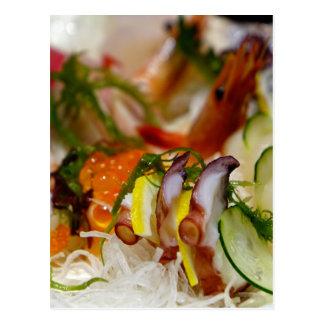 Sashimi Salmon Fish Food Seafood Japanese Postcard