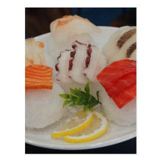 Sashimi Sushi Time Ice Japanese Postcard
